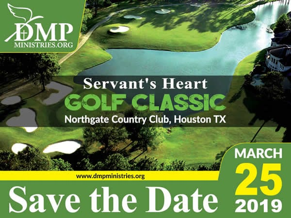 Servant's Heart Golf Classic Save Date 2019 - DMP Ministries