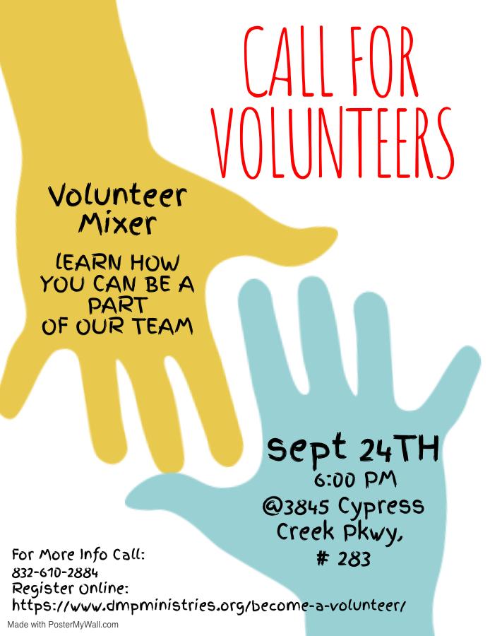 DMP Volunteer Mixer Flyer Update